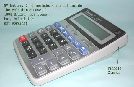 Bezdrátová barevná CCTV mikro špionážní kamera skrytá v kalkulačce ... 0c47992d8e